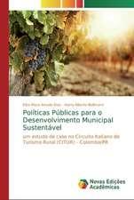 Políticas Públicas para o Desenvolvimento Municipal Sustentável