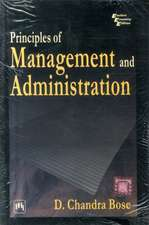 Principles of Management and Administration