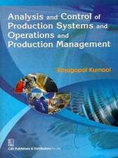 ANALYSIS CONTROL PRODUCTION SYSTEMS
