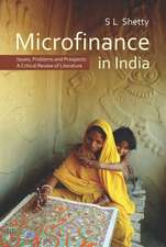 Microfinance in India:  A Critical Review of Literature
