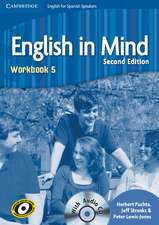 English in Mind for Spanish Speakers Level 5 Workbook with Audio CD