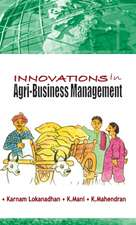 Innovations in Agri-Business Management