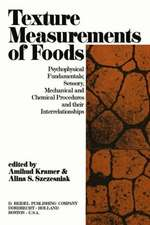 Texture Measurement of Foods: Psychophysical Fundamentals; Sensory, Mechanical, and Chemical Procedures, and their interrelationships