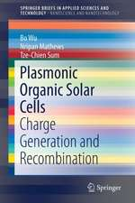 Plasmonic Organic Solar Cells: Charge Generation and Recombination