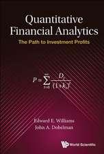 Quantitative Financial Analytics