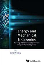 Energy and Mechanical Engineering - Proceedings of 2015 International Conference